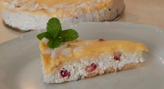 Recept: Citrónovo-tvarohová torta