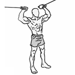 Bicepsové sťahovanie protismerných kladiek