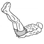 Dvíhanie nôh v ľahu