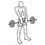 Krčenie ramien s veľkou činkou
